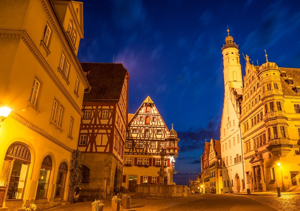 The Rothenburg ob der Tauber a town in Bavaria, Germany