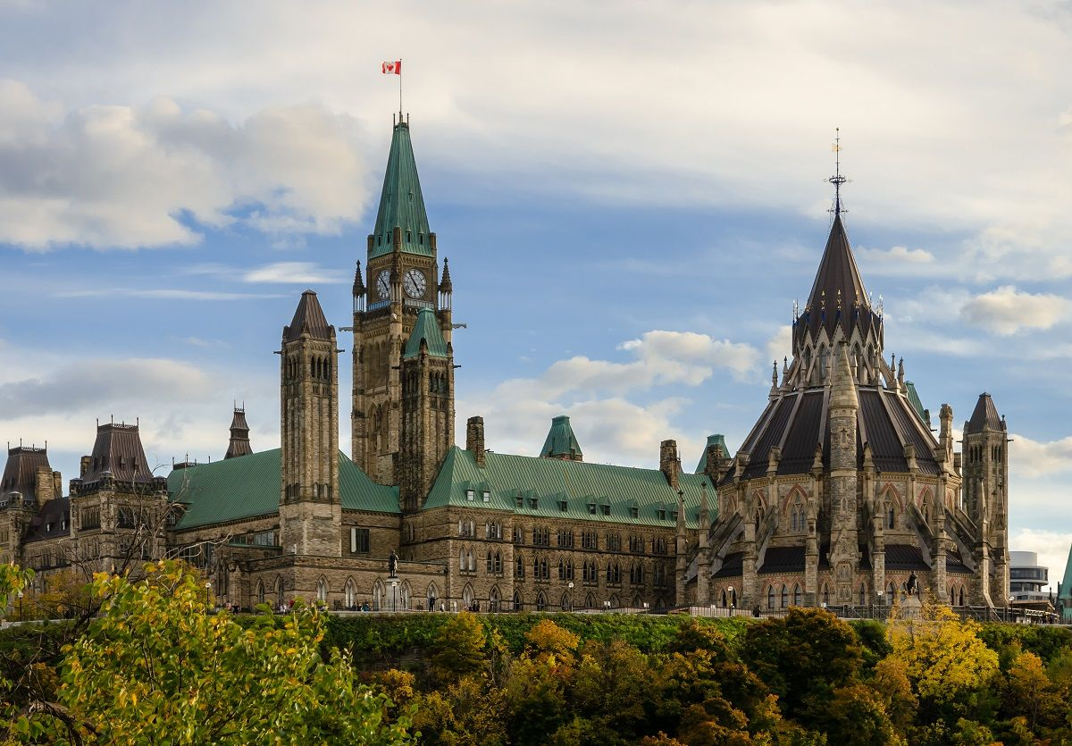 پارلمان هیل در اوتاوا Parliament Hill in Ottawa